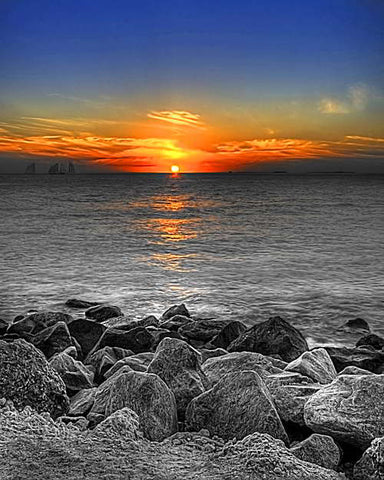 Sunset at Fort Zachary Beach