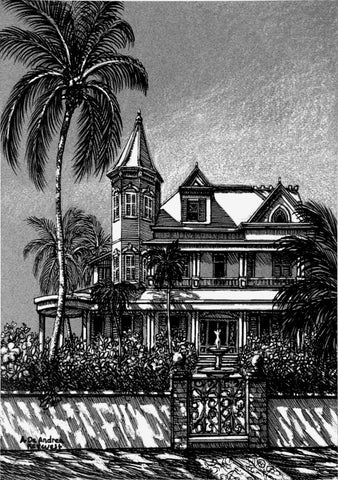 SV4 - Southernmost House Pen and Ink
