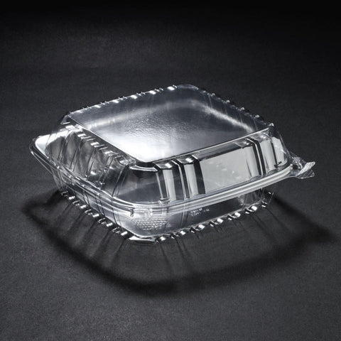 Lrg Clear To-Go Containers (8x8x3) = 250