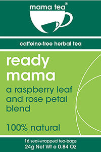 READY MAMA | birth preparation tea | raspberry leaf. hibiscus and rose petal herbal tea