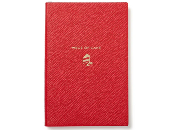 red notebook with text