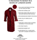 Luxury Heavyweight Towelling Burgundy