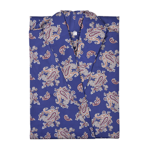 Folded Lightweight Men's Robe - Gatsby Paisley Blue