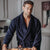 Navy Men's Designer Dressing Gown | Bown of London