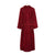 Back of Women's Heavyweight Toweling Burgundy Gown | Bown of London