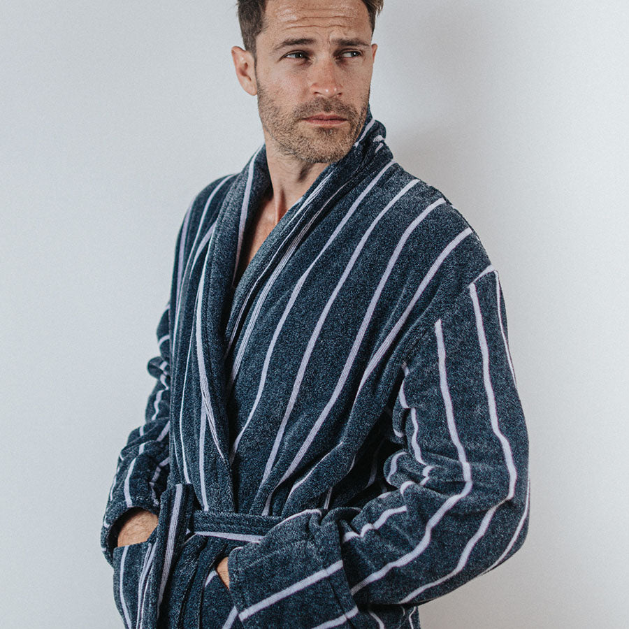 Heavyweight Designer Dressing Gown | Bown of London