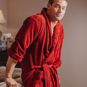 Heavyweight Toweling Dressing Gown | Bown of London