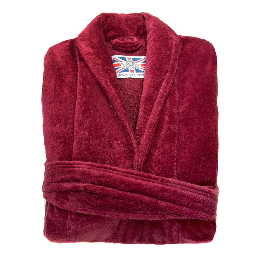 Ruby Colour Dressing Gown | Bown of London