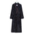 Ladies Dressing Gown Navy Cotton | Bown of London