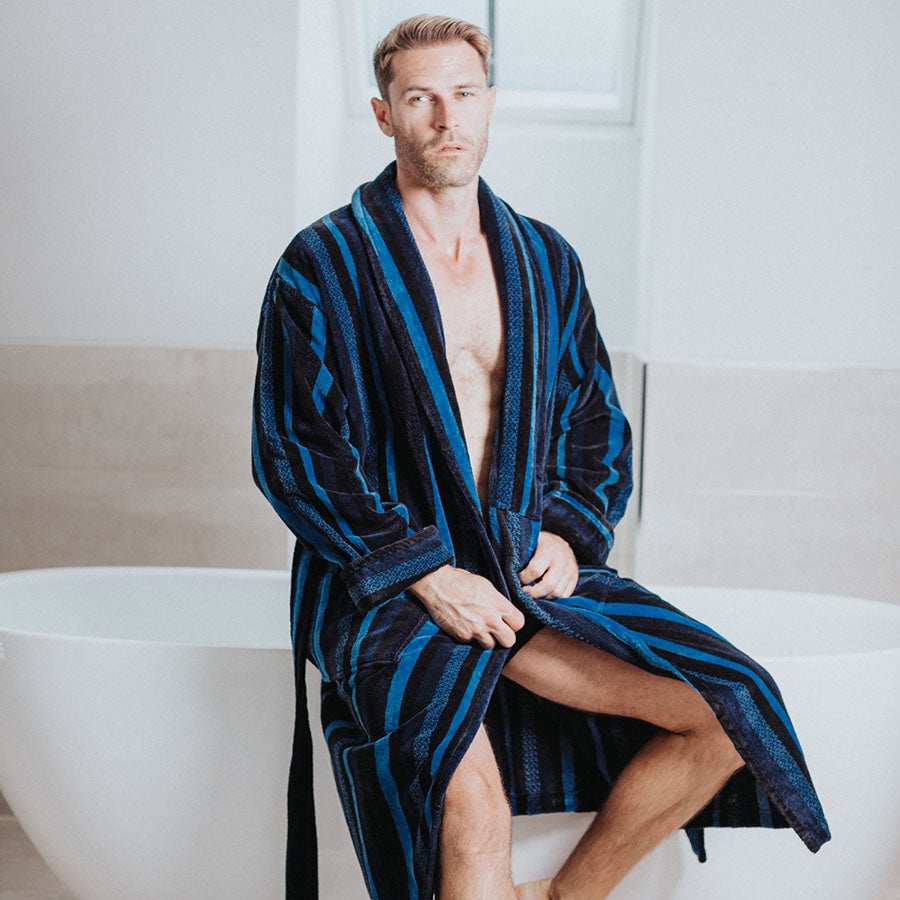 Men's Long Length Dressing Gown | Bown of London
