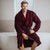 Red & Black Striped Men's Dressing Gown | Bown of London