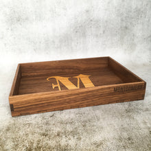 Load image into Gallery viewer, Inlaid Monogram EDC Tray - Walnut