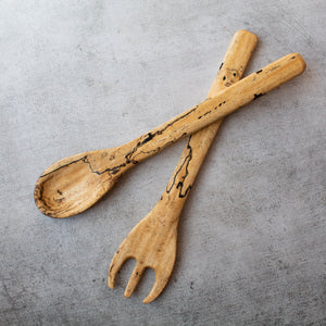 Spalted Tamarind Salad Utensil Set