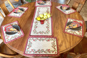 Cranberries - 6 Piece Table Set