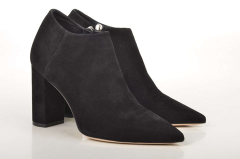 Deimille Ankle Boot Veloursleder schwarz (black)