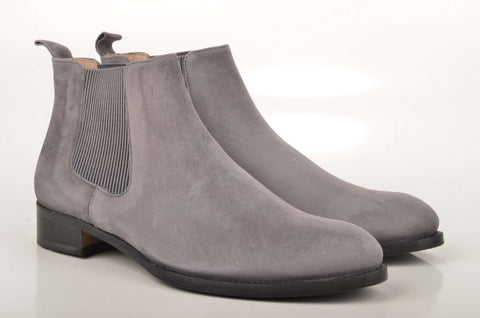Damen Boots John Baker's Mini Chelsea-Boot DM15 Veloursleder grau (grey)
