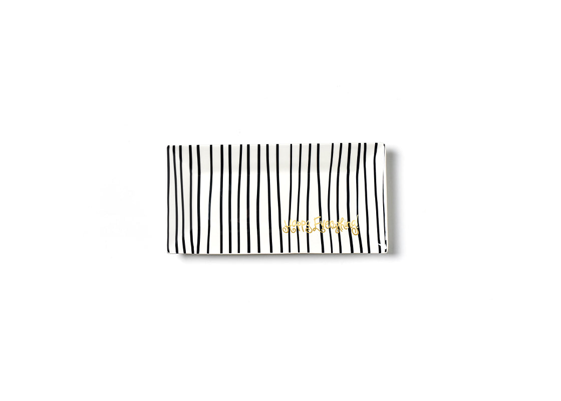 Black Stripe Happy Everything! Scoop Tray