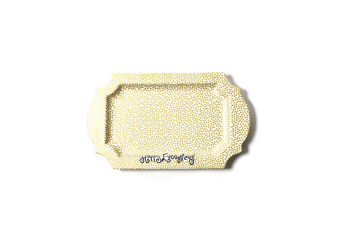 Gold Small Dot Happy Everything! Traditional Tray