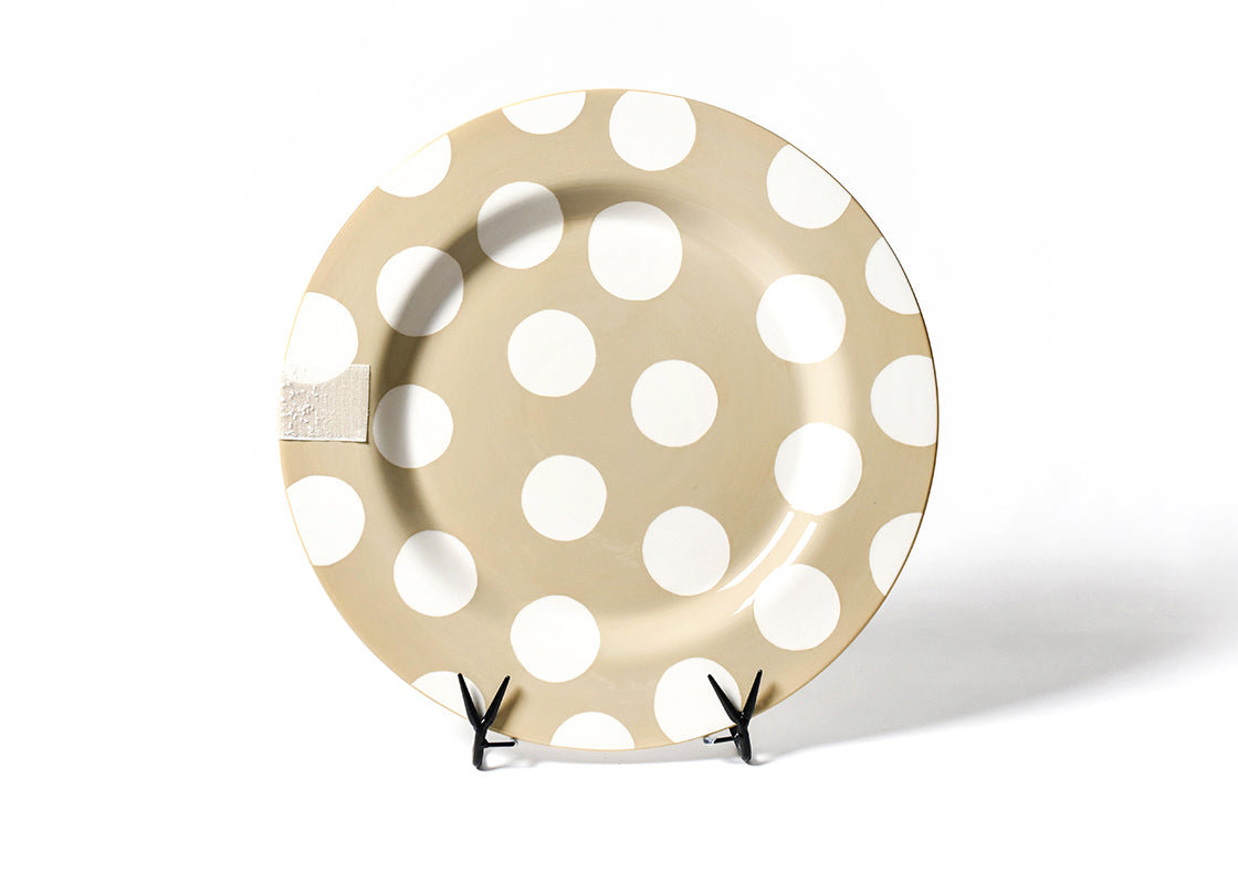 Neutral Dot Big Entertaining Platter with Now Serving Big Attachment