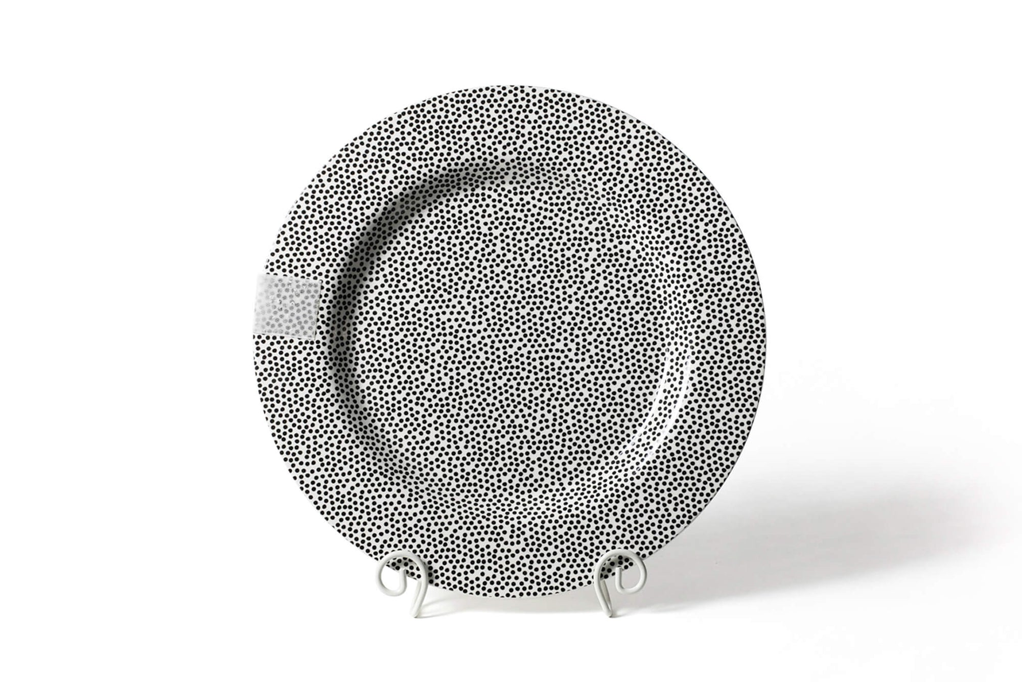 Black Small Dot Big Entertaining Round Platter