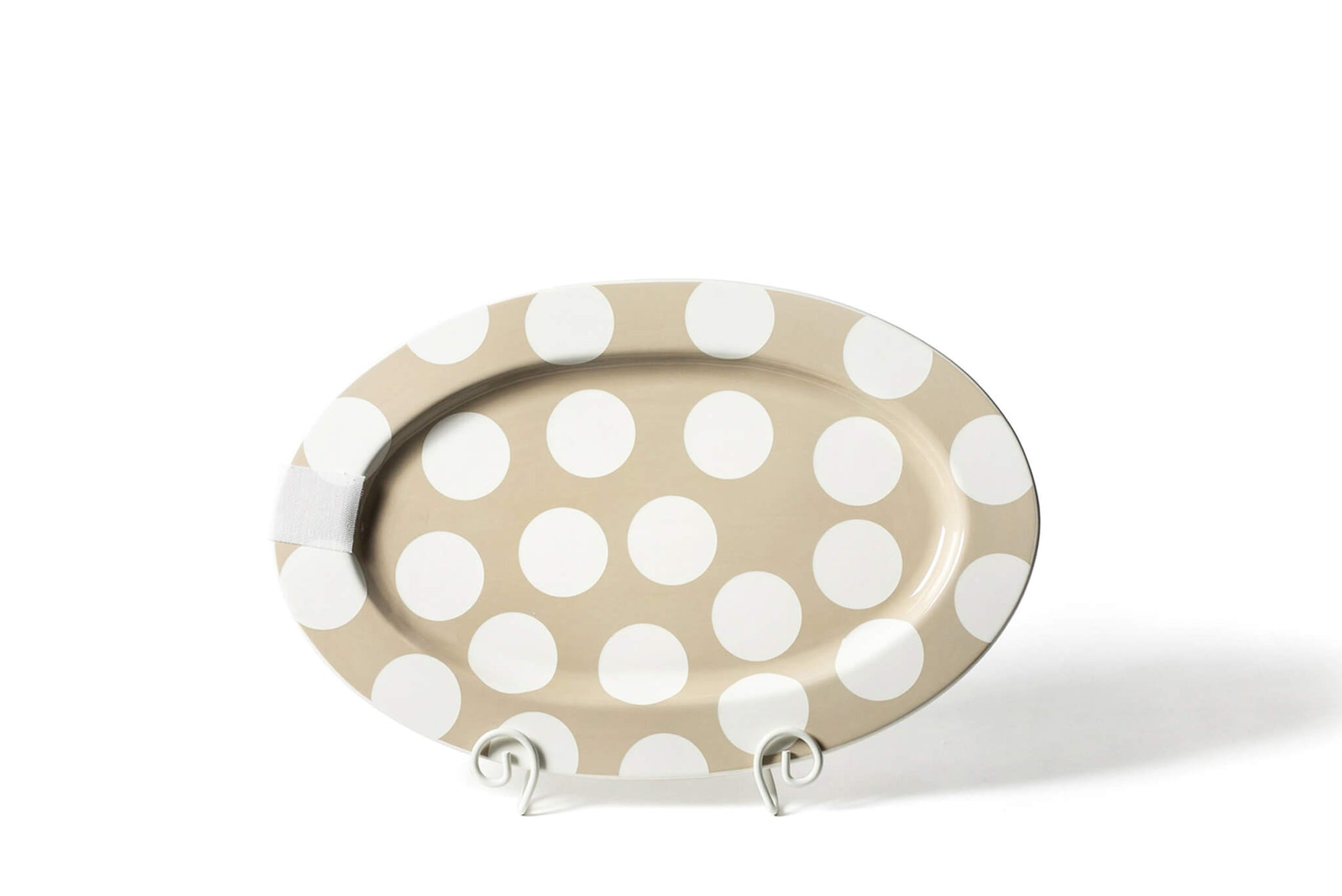 Neutral Dot Big Entertaining Oval Platter