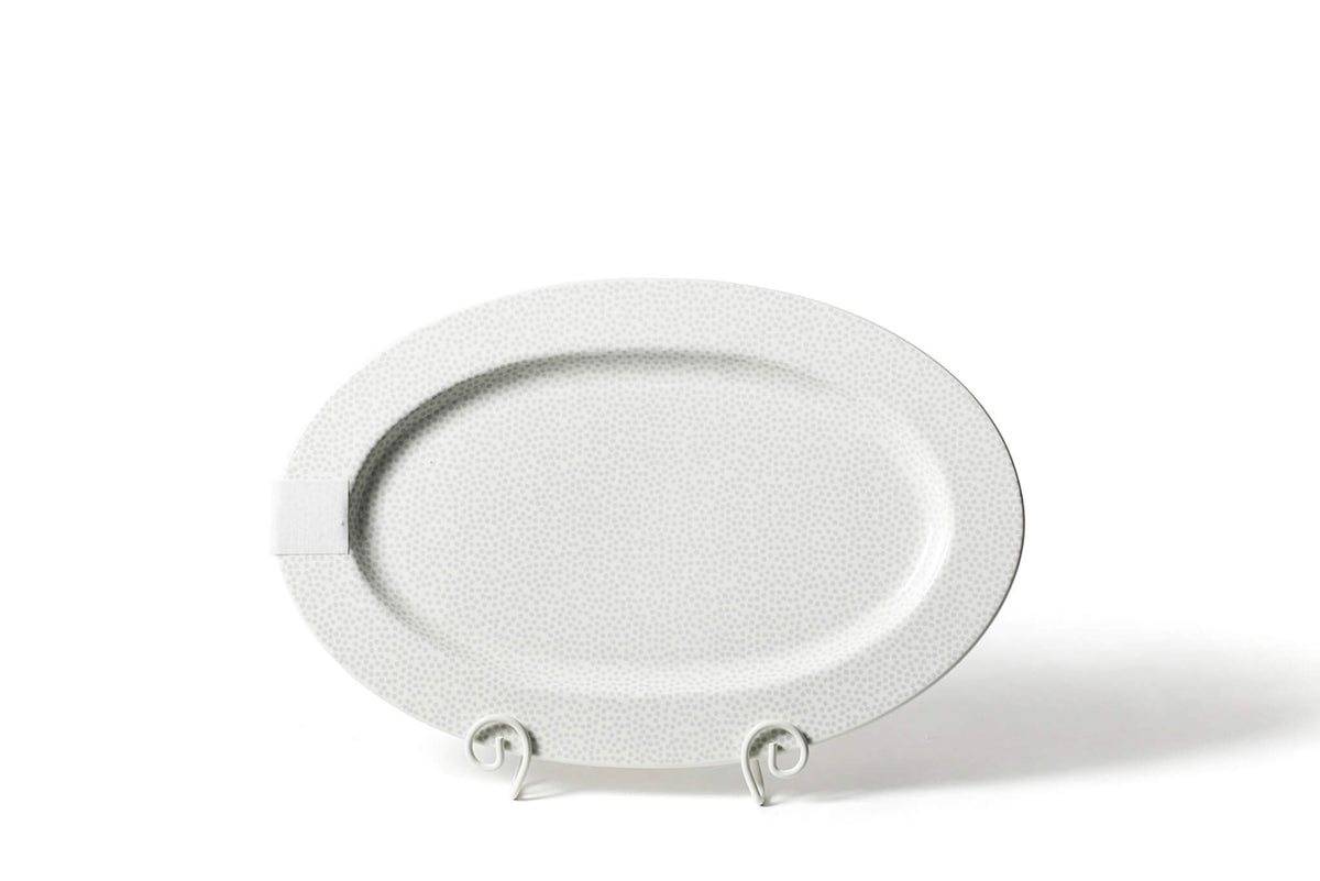 Stone Small Dot Big Entertaining Oval Platter