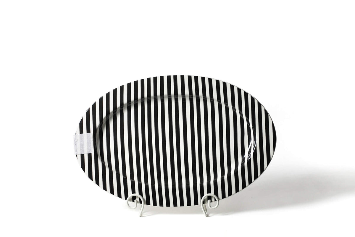 Black Stripe Big Entertaining Oval Platter