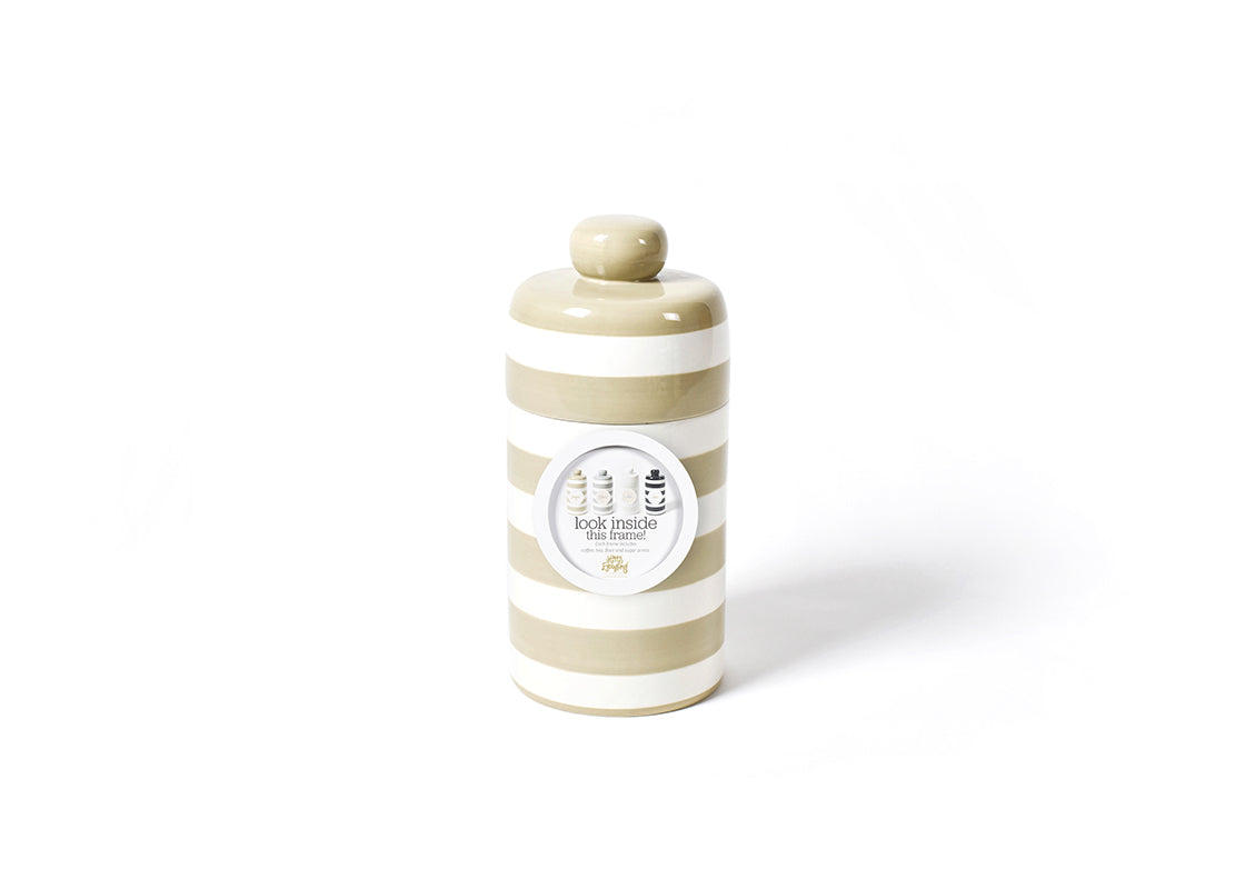 Neutral Stripe Mini Canister with Pantry Inserts Frame Mini Attachment