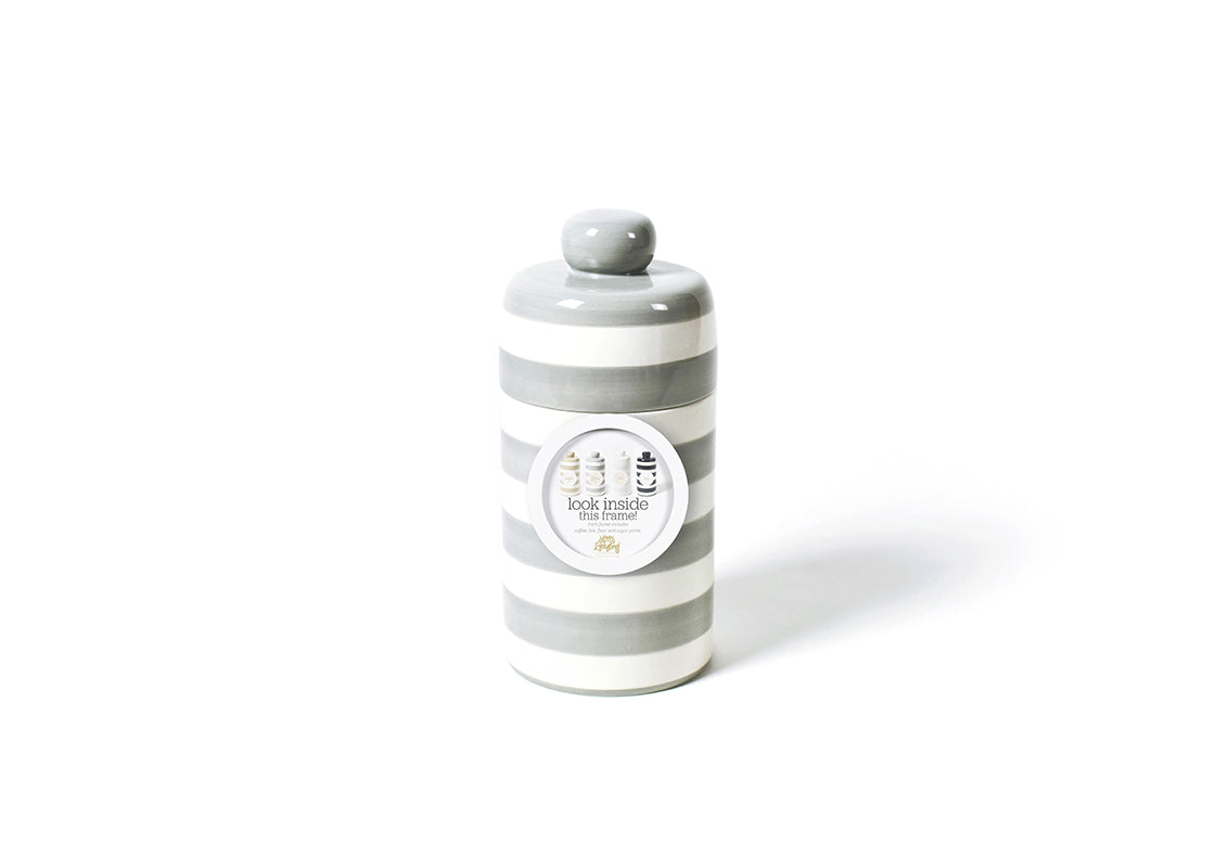 Stone Stripe Mini Canister with Pantry Inserts Frame Mini Attachment