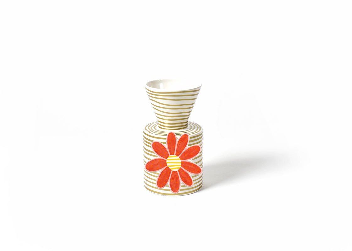 Gold Stripe Mini Vase and Daisy Flower Mini Attachment