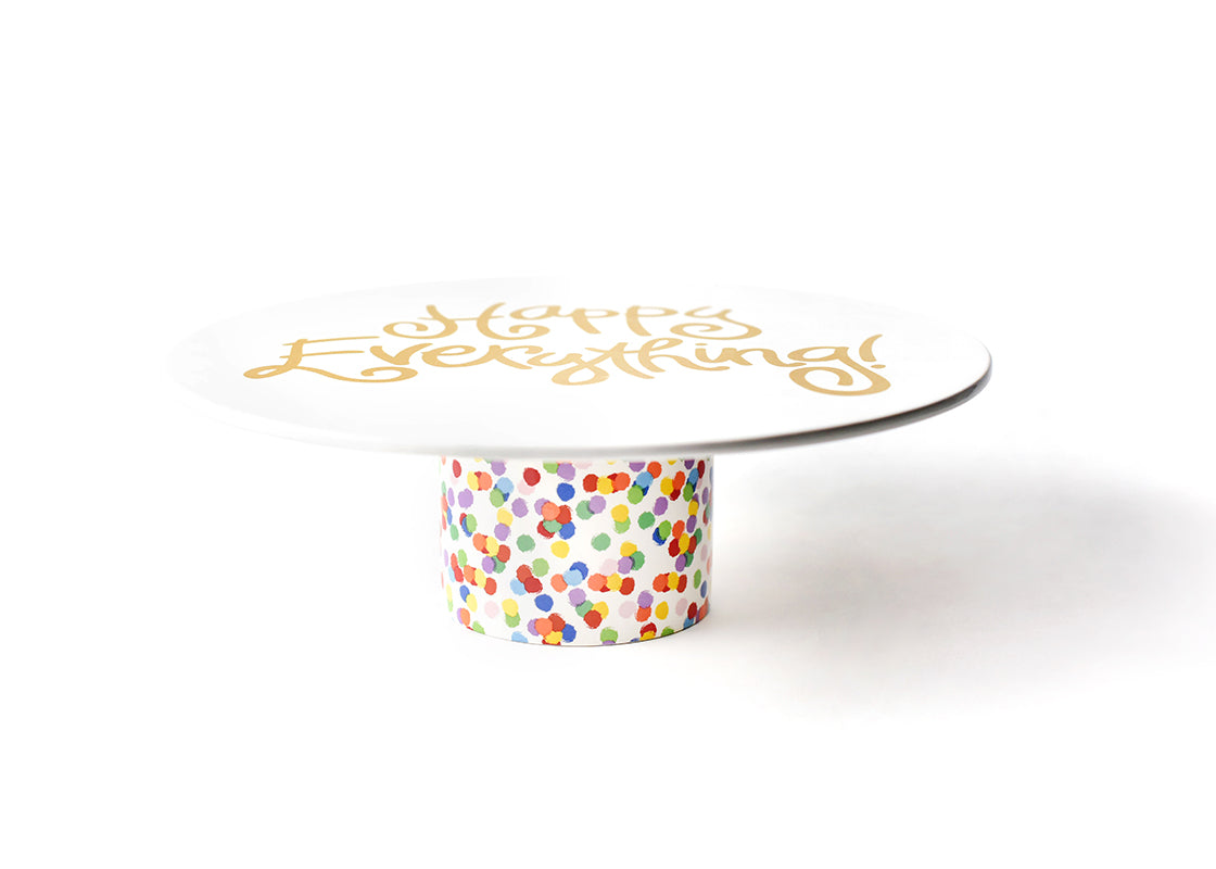 Toss Happy Everything! Cake Stand