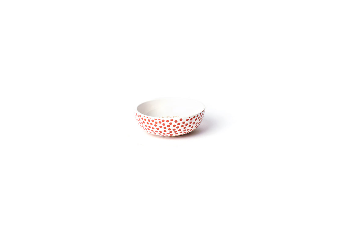 Persimmon Small Dot Happy Everything! Dipping Bowl
