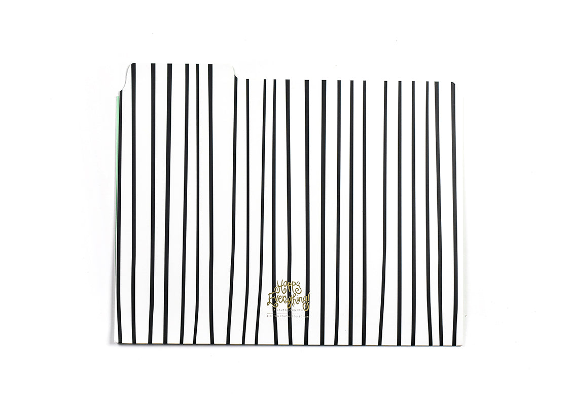 Black Stripe Happy Everything! File Folder - Set of 6