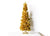 5-Foot Tinsel Tree Gold