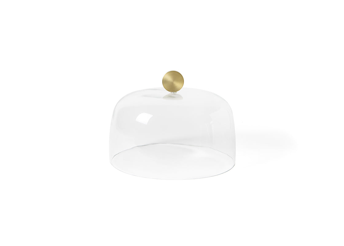 Gold Knob Large Glass Dome