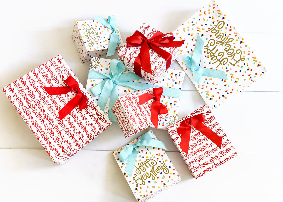 Happy Everything! Gift Wrapping Paper - 3 Sheets