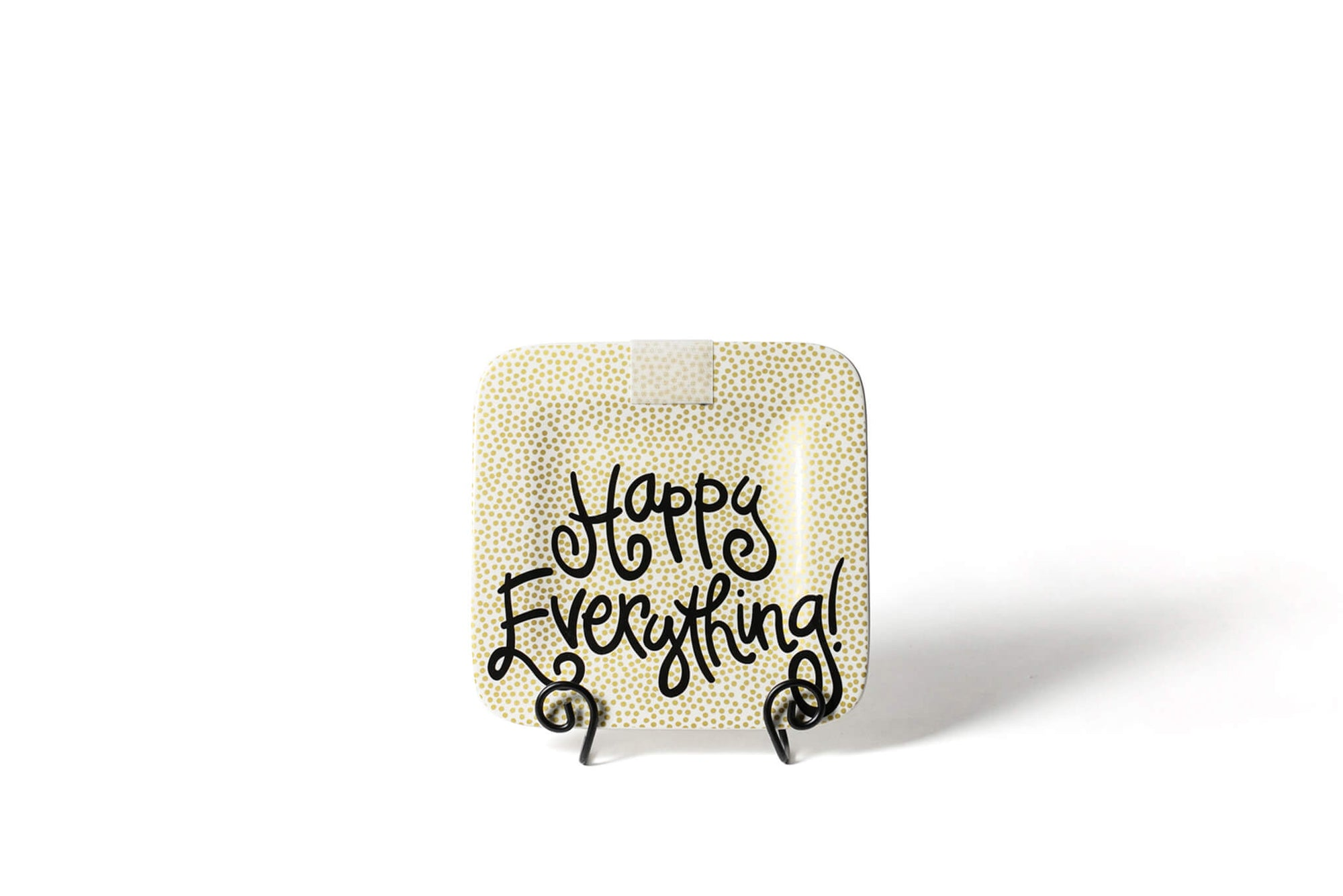 Gold Small Dot Mini Happy Everything! Square Platter