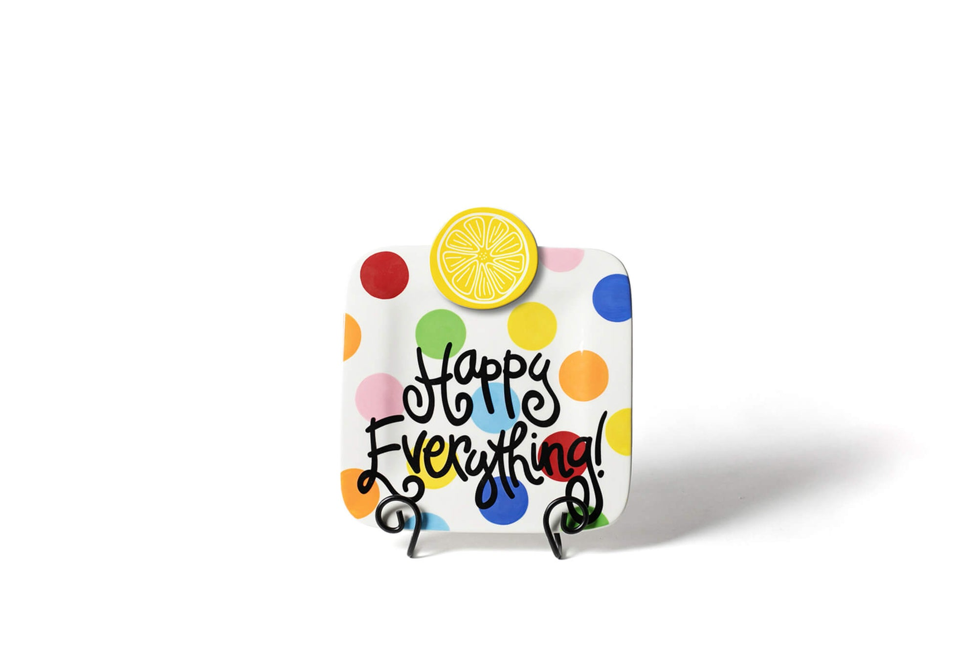 Bright Dot Mini Happy Everything! Square Platter