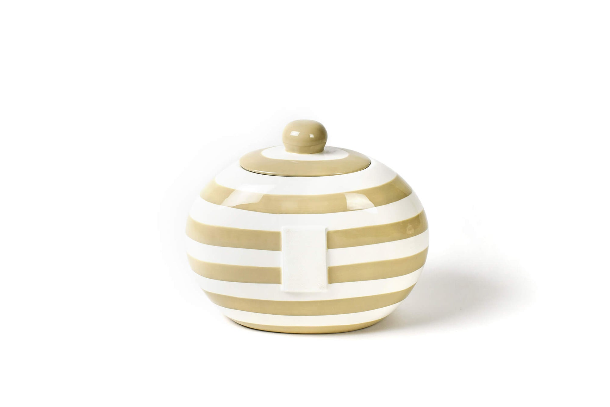 Neutral Stripe Big Cookie Jar