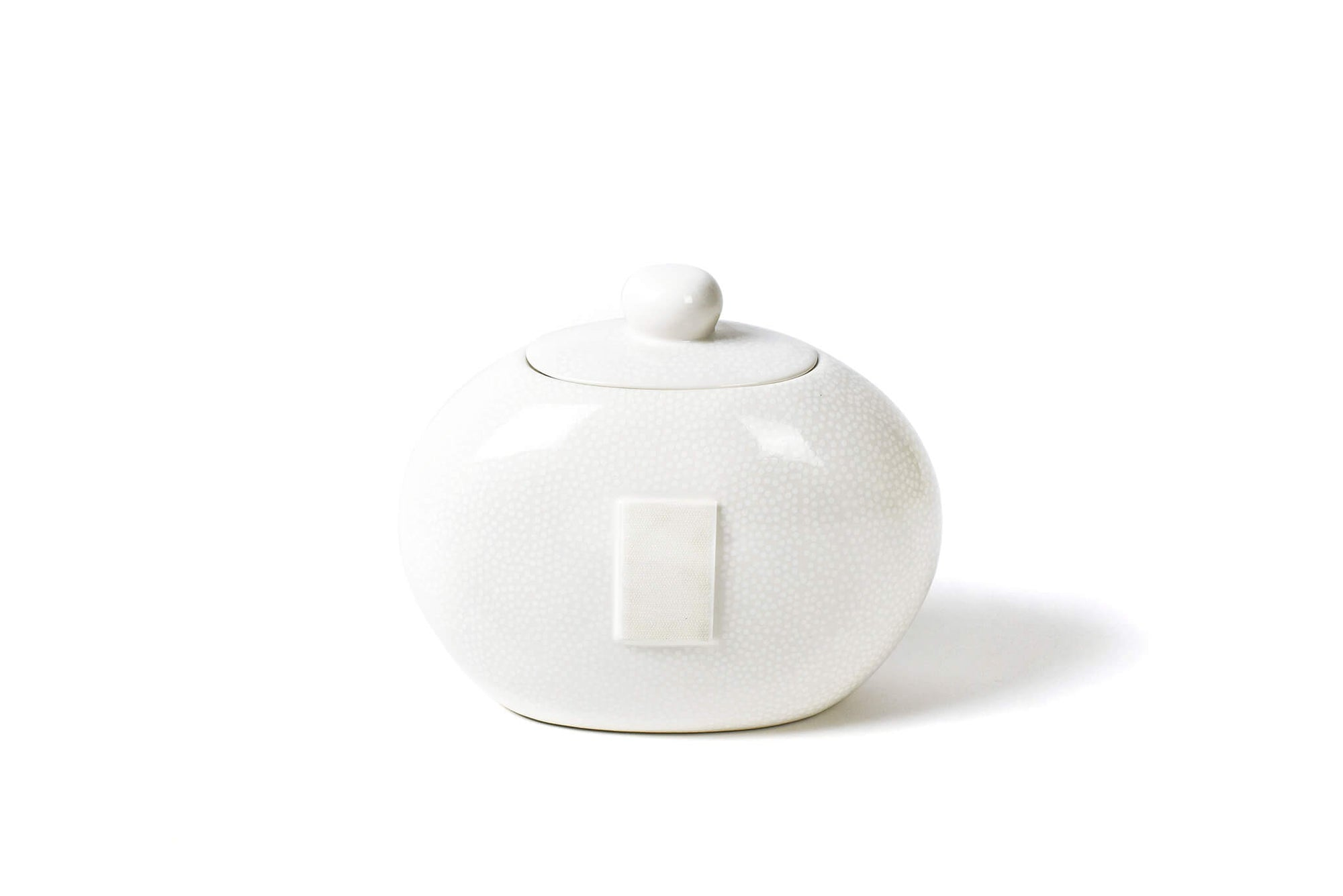 White Small Dot Big Cookie Jar