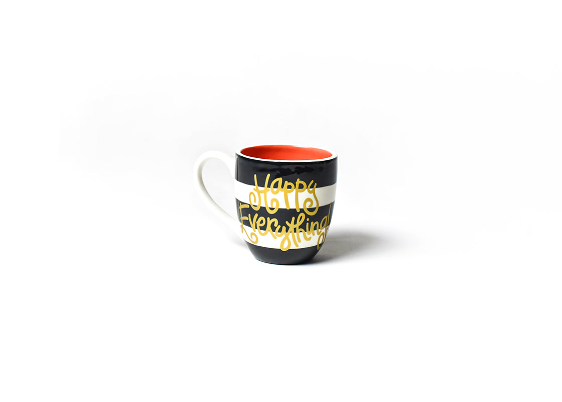 Black Stripe Happy Everything! Mug