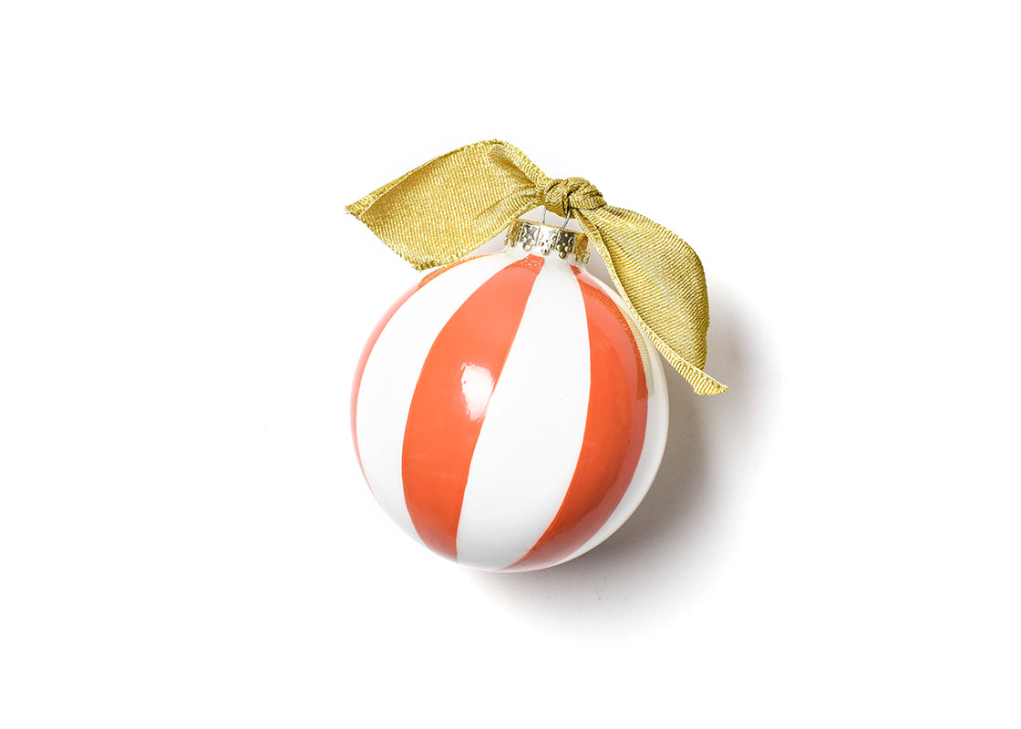 Persimmon Color Block Happy Everything! Glass Ornament