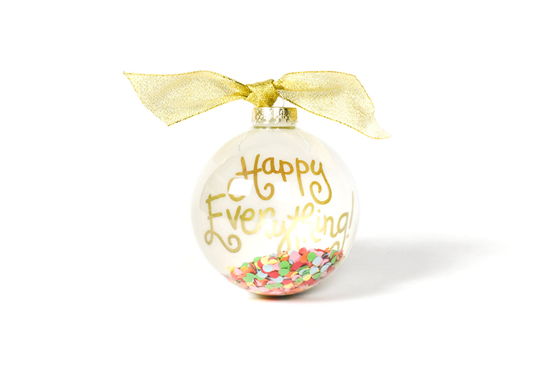 Toss Happy Everything! Globe Glass Ornament