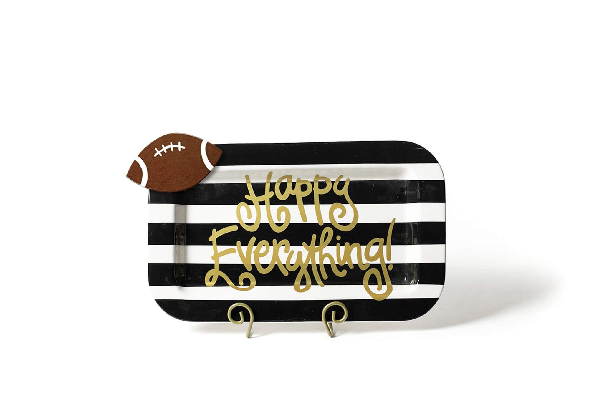 Black Stripe Mini Happy Everything! Rectangle Platter