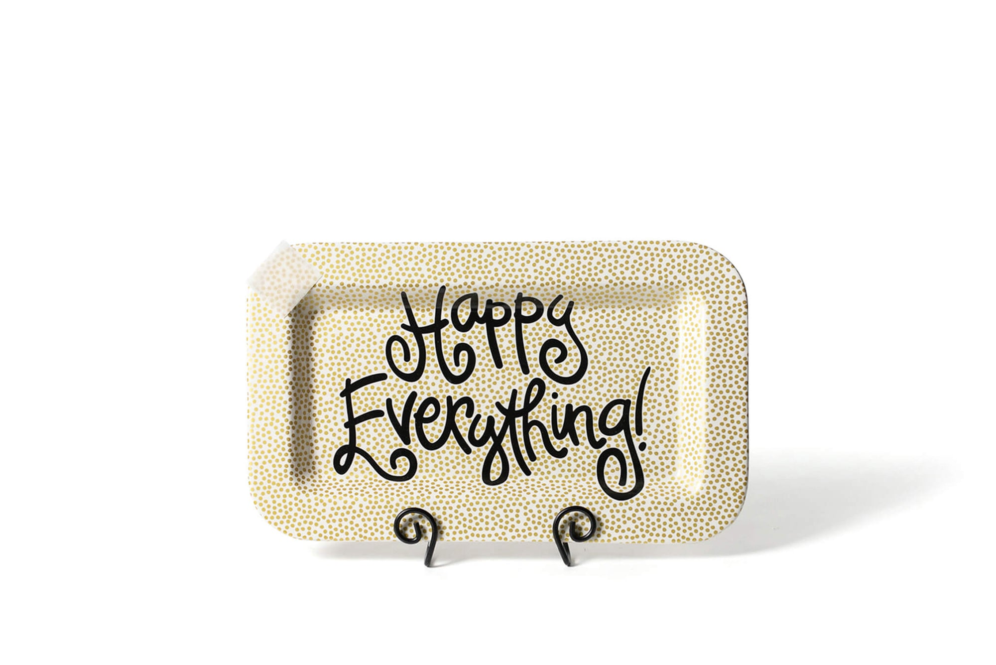 Gold Small Dot Mini Happy Everything! Rectangle Platter