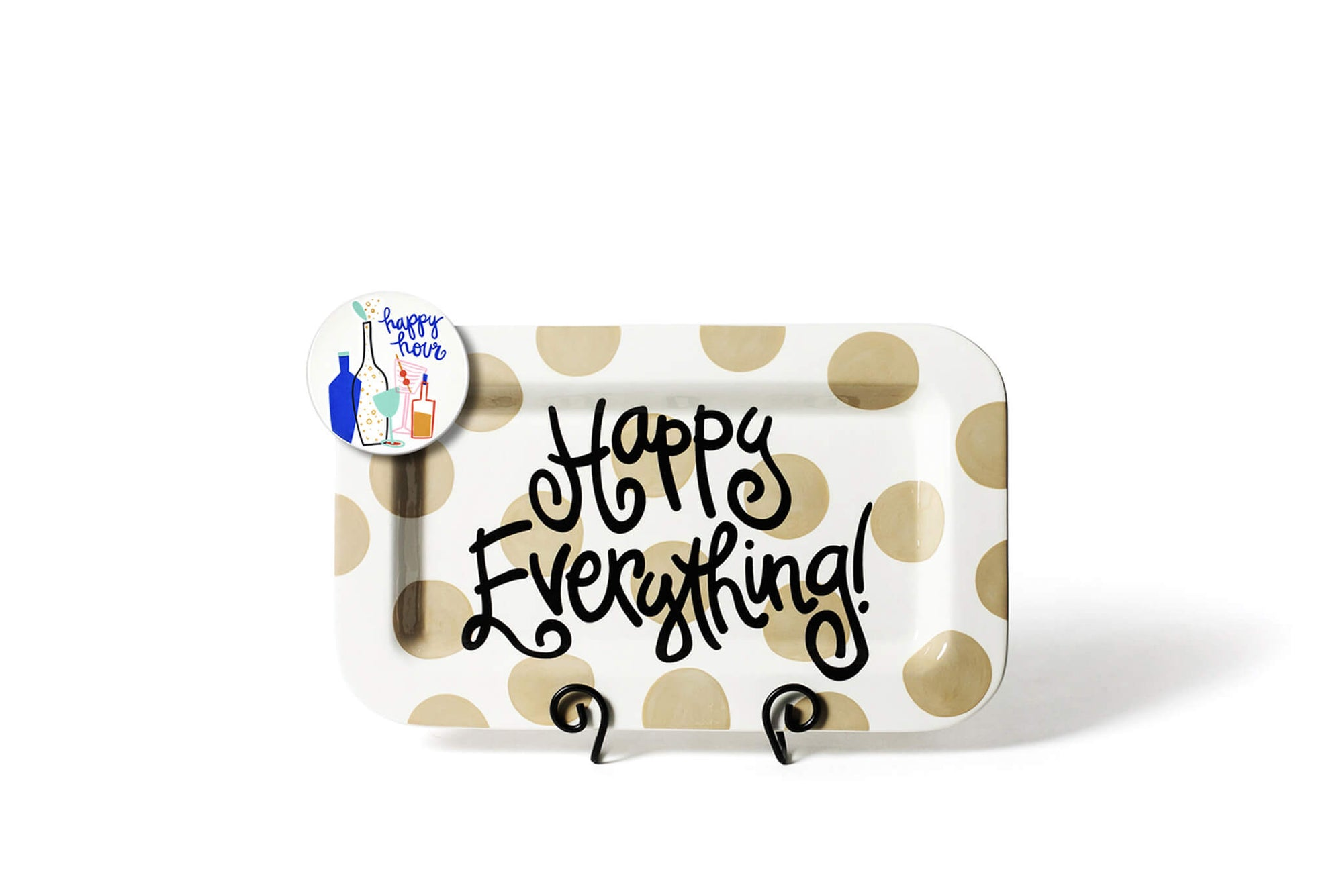 Neutral Dot Mini Happy Everything! Rectangle Platter