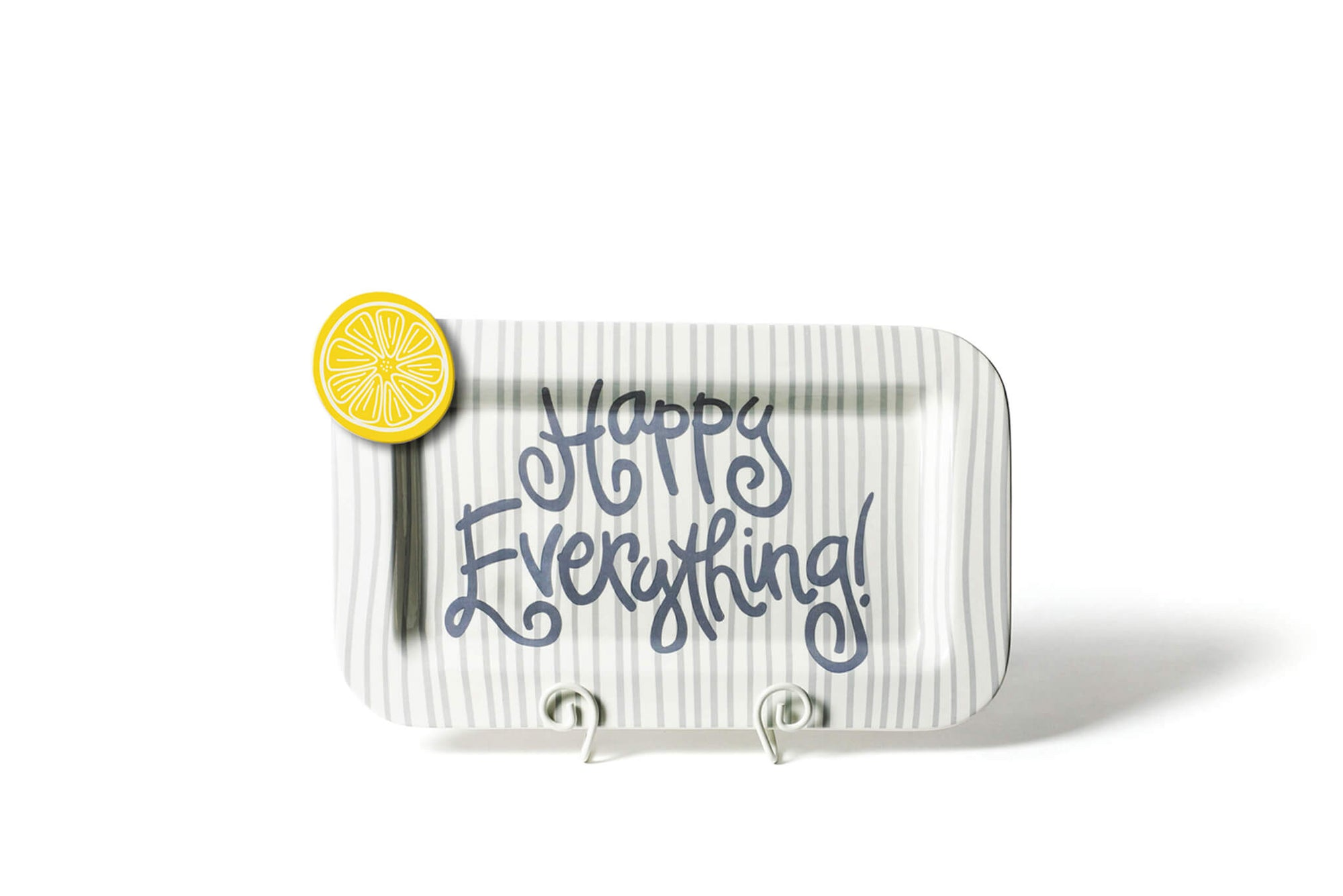 Stone Skinny Stripe Mini Happy Everything! Rectangle Platter
