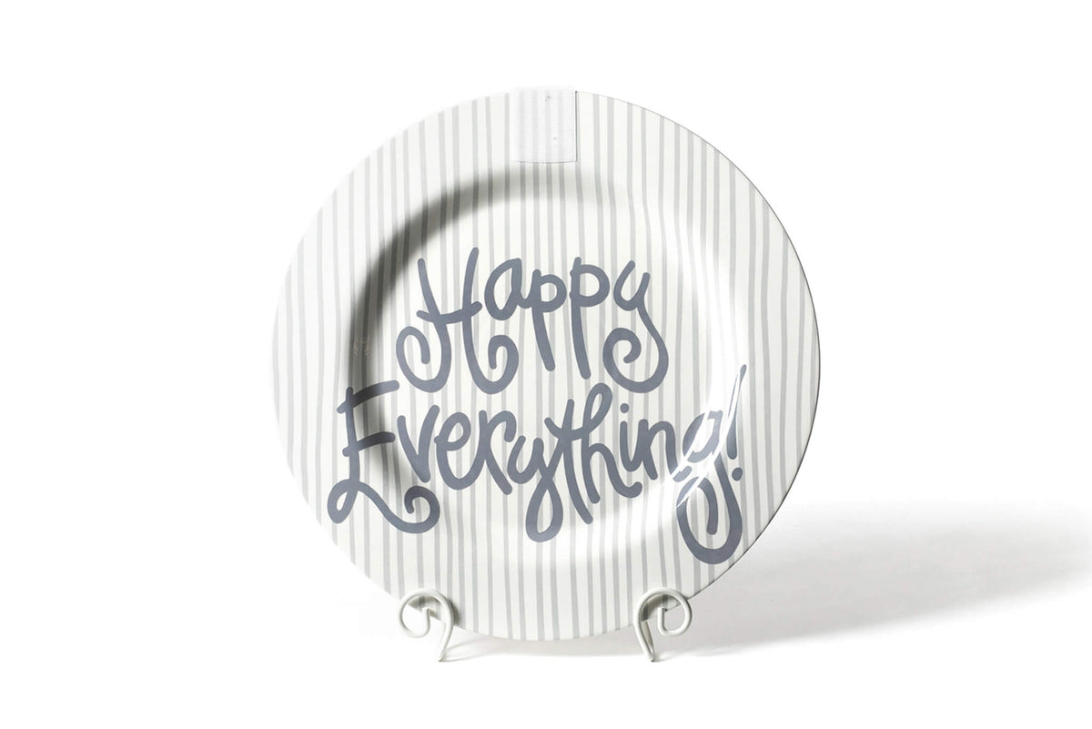 Stone Skinny Stripe Big Happy Everything! Round Platter