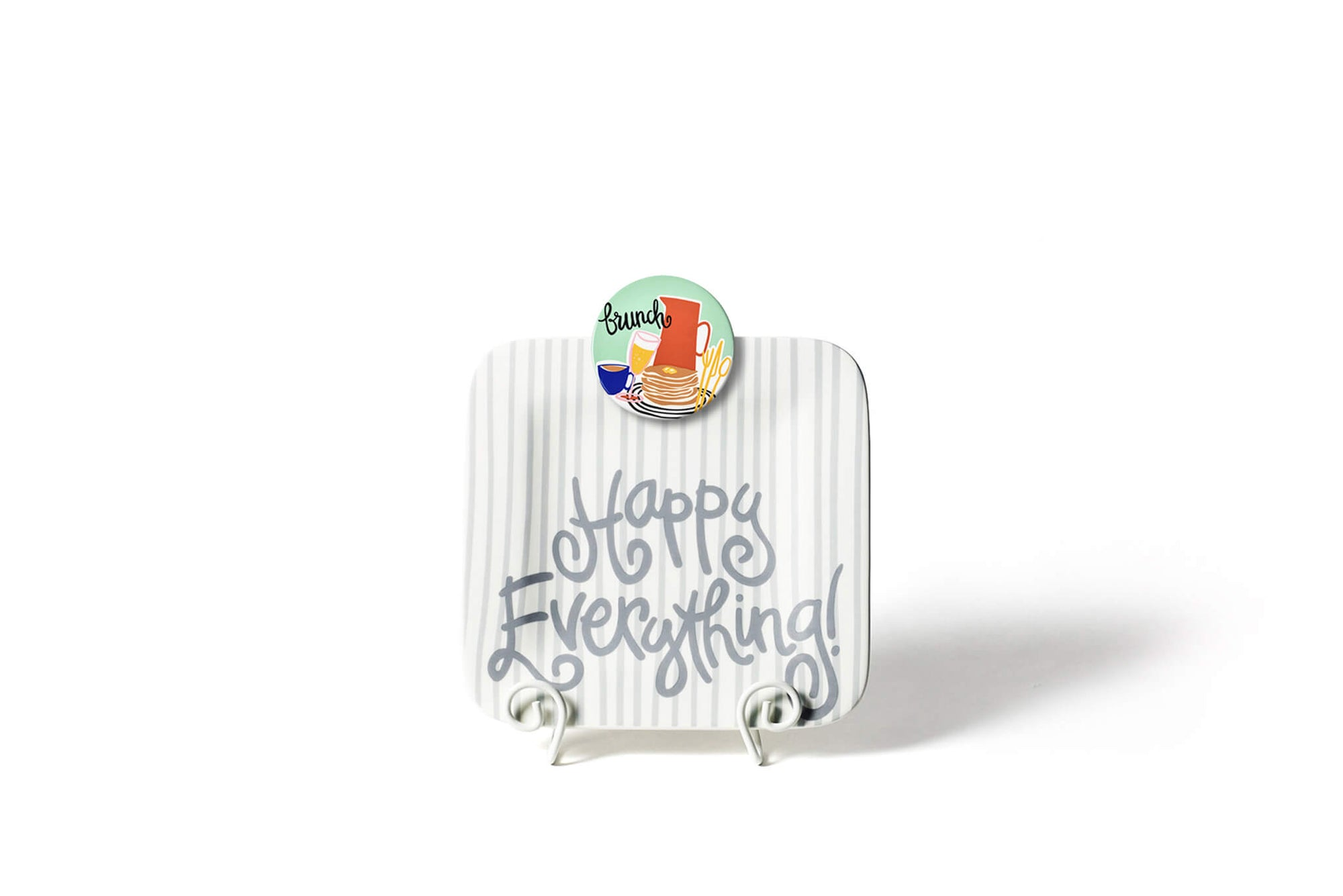 Stone Skinny Stripe Mini Happy Everything! Square Platter