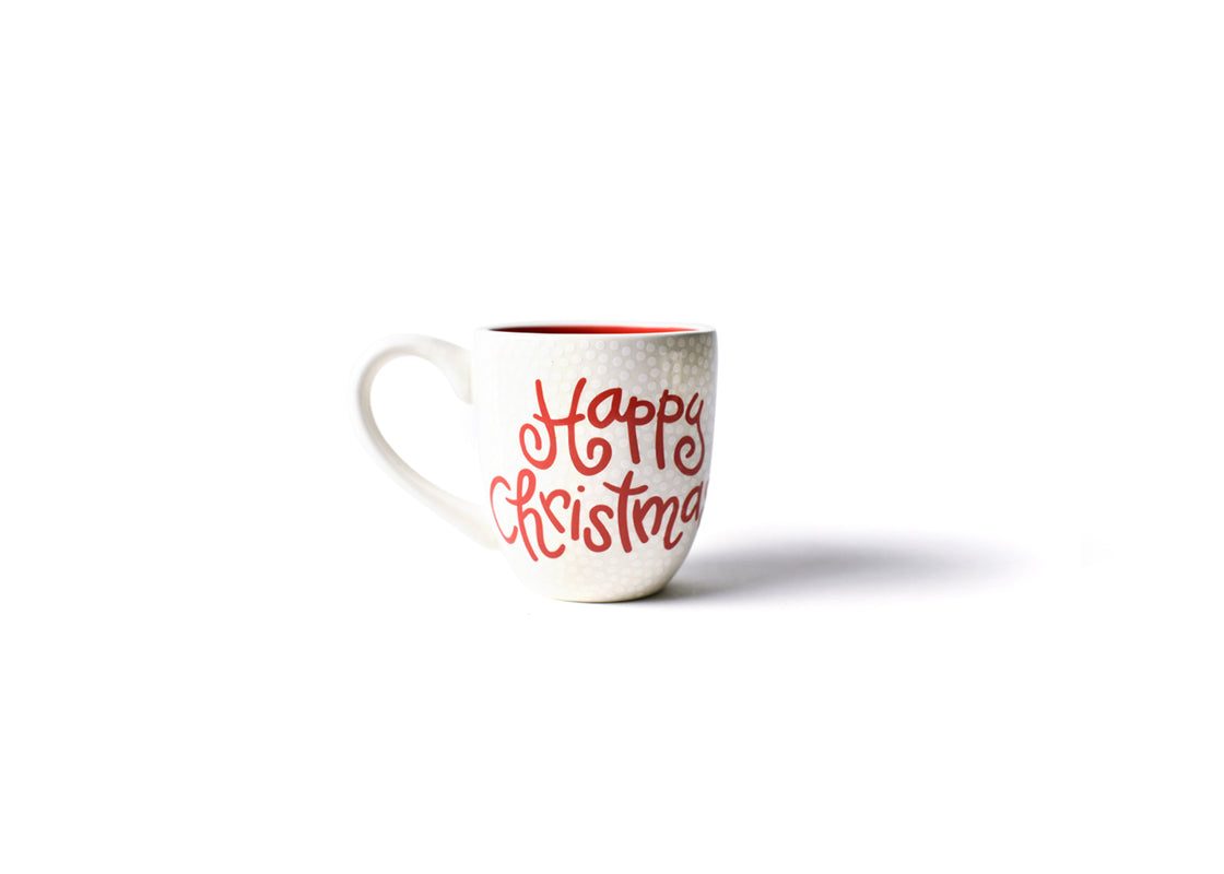 White Happy Christmas Mug